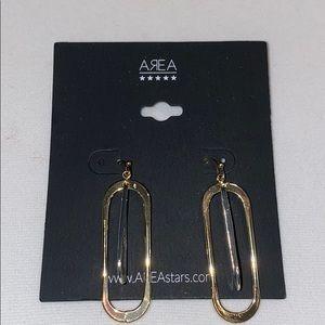 AREA dangle earrings- NWT